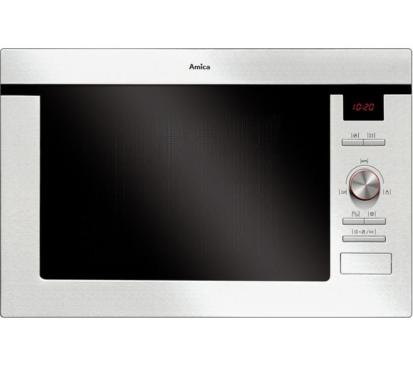 Image of AMICA AMM25BI Built-in Microwave with Grill - Stainless Steel
