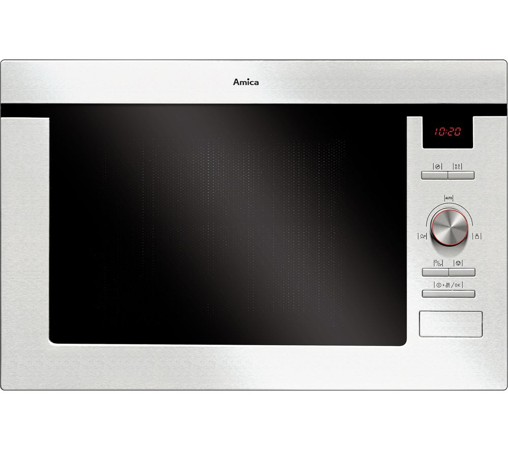 AMICA AMM25BI Built-in Microwave with Grill - Stainless Steel