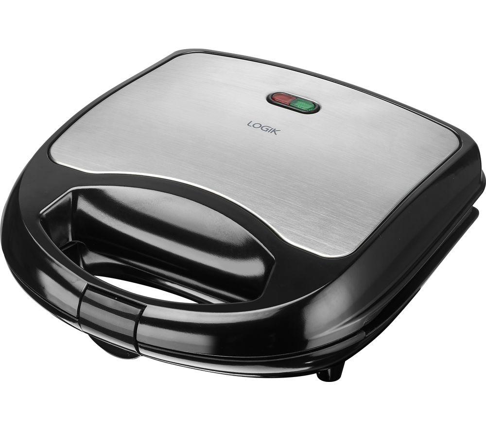 LOGIK L02SMS17 Sandwich Toaster -  Black & Silver