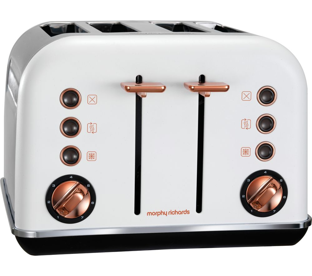 buy morphy richards accents 242106 4 slice toaster white. Black Bedroom Furniture Sets. Home Design Ideas