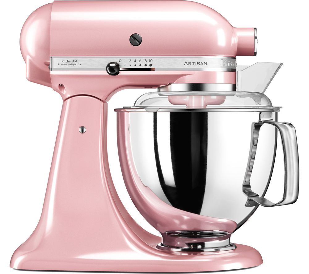 buy kitchenaid artisan 5ksm175psbsp stand mixer silk pink free rh currys co uk pink kitchenaid mixer black friday hand mixer pink kitchenaid