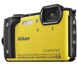 NIKON COOLPIX W300 Tough Compact Camera - Yellow