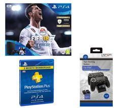 SONY PlayStation 4 Slim, FIFA 18, Docking Station & 3 Month PlayStation Plus Bundle