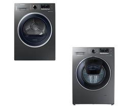 SAMSUNG AddWash WW80K5410UX Washing Machine - Graphite