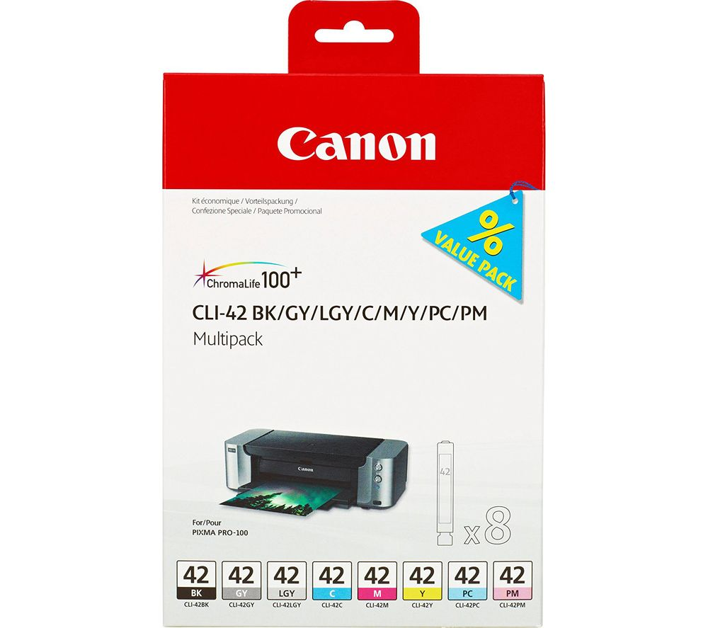 Buy CANON CLI-42 Black, Grey, Light Grey, Cyan, Magenta, Yellow Ink Cartridges - Multipack | Free Delivery | Currys