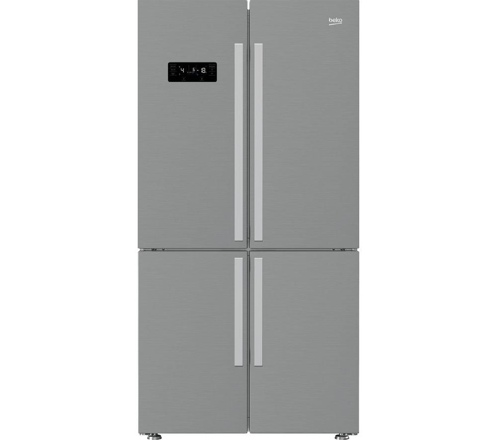 BEKO Pro MN1416224PX Fridge Freezer - Brushed Steel