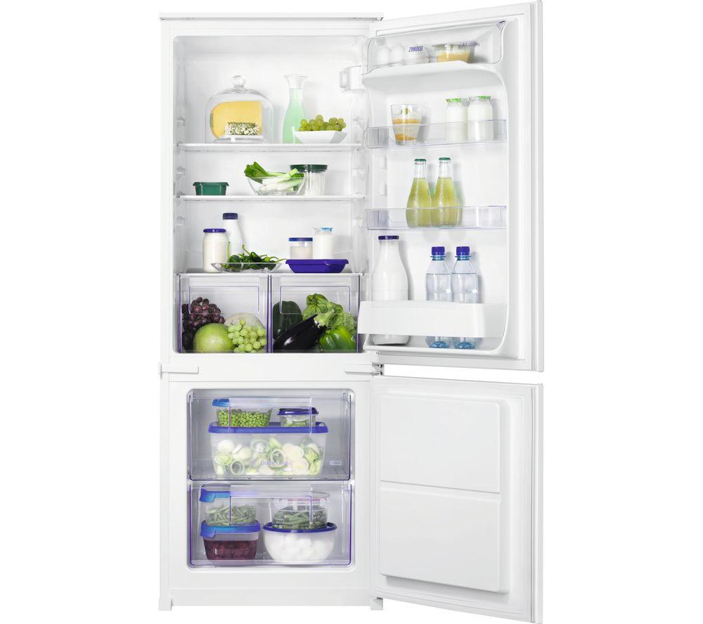 Image of ZANUSSI ZBB24431SV Integrated 70/30 Fridge Freezer, Transparent