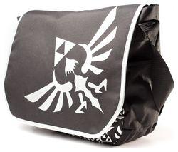 Zelda Messenger Bag with Silver Logo - Black