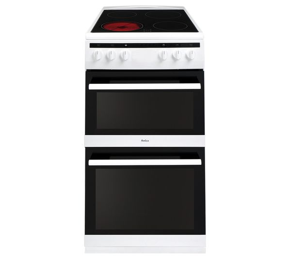 Image of AMICA AFC5100WH 50 cm Electric Ceramic Cooker - White