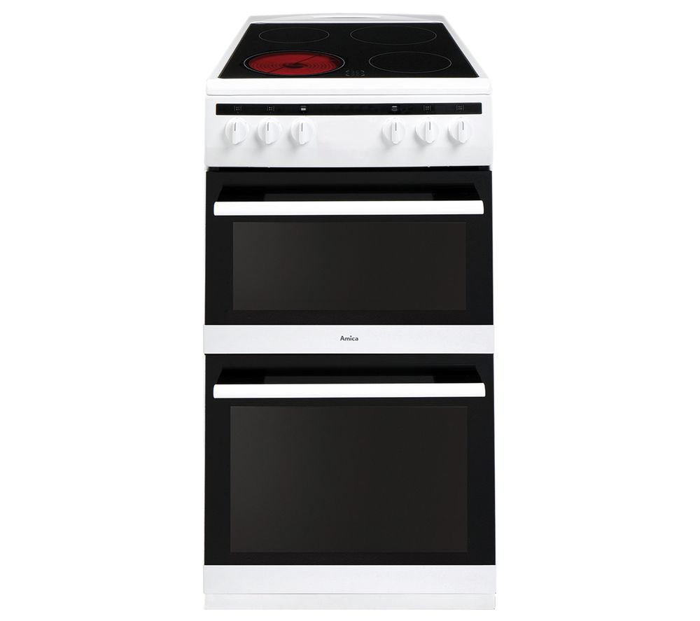AMICA AFC5100WH 50 cm Electric Ceramic Cooker - White, White