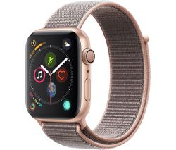 APPLE Watch Series 4 - Gold & Pink Sand Sports Loop, 44 mm
