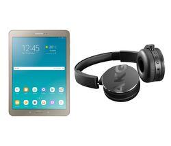"SAMSUNG Galaxy Tab S2 9.7"" Tablet & C50BT Wireless Bluetooth Headphones Bundle - 32 GB, Gold"
