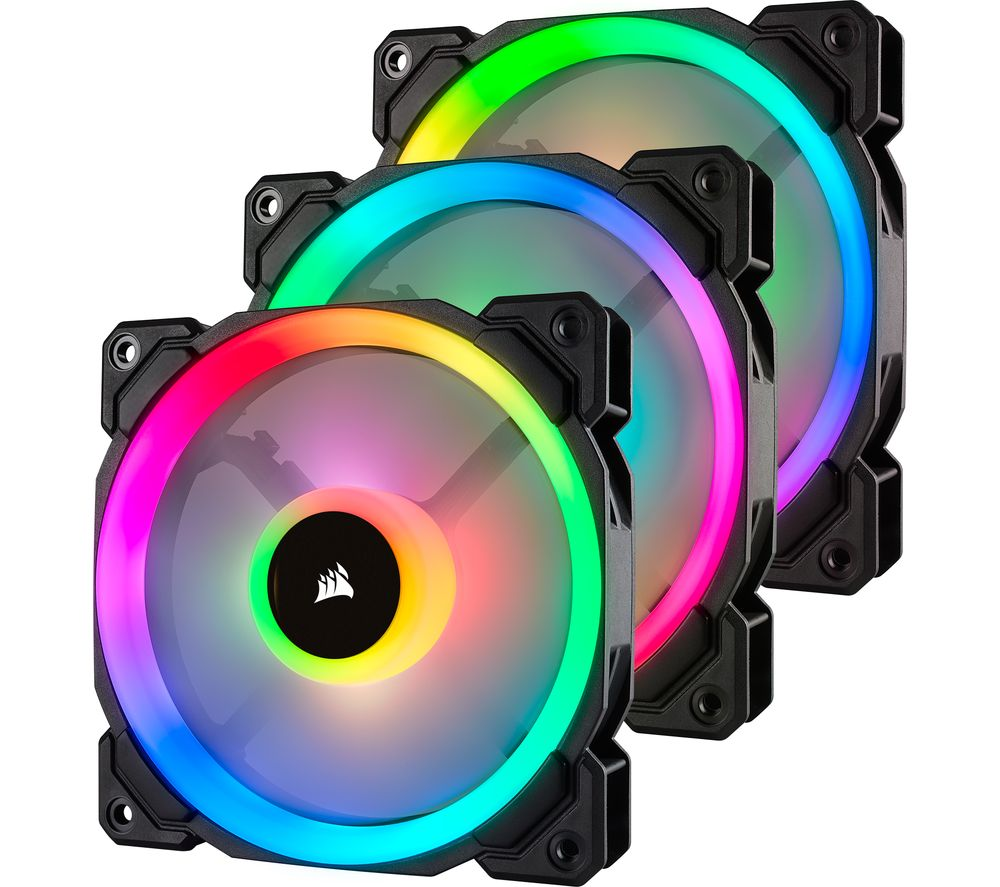 CORSAIR LL Series 120 mm Case Fan - Triple Pack, RGB LED