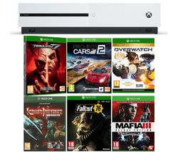 MICROSOFT Xbox One S, Tekken 7, Project Cars 2, Fallout 76, Mafia III Deluxe Edition, Overwatch & Killer Instinct Combo Breaker Pack Bundle