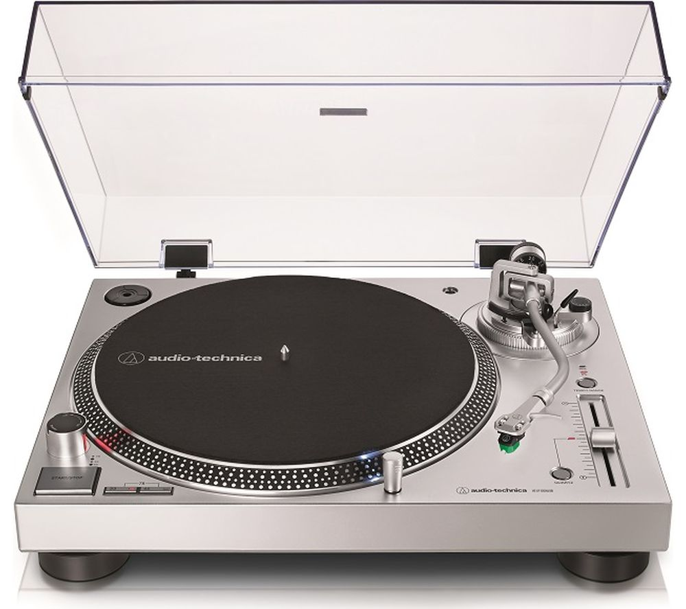 Image of AUDIO TECHNICA AT-LP120XUSB Direct Drive Turntable - Silver, Silver
