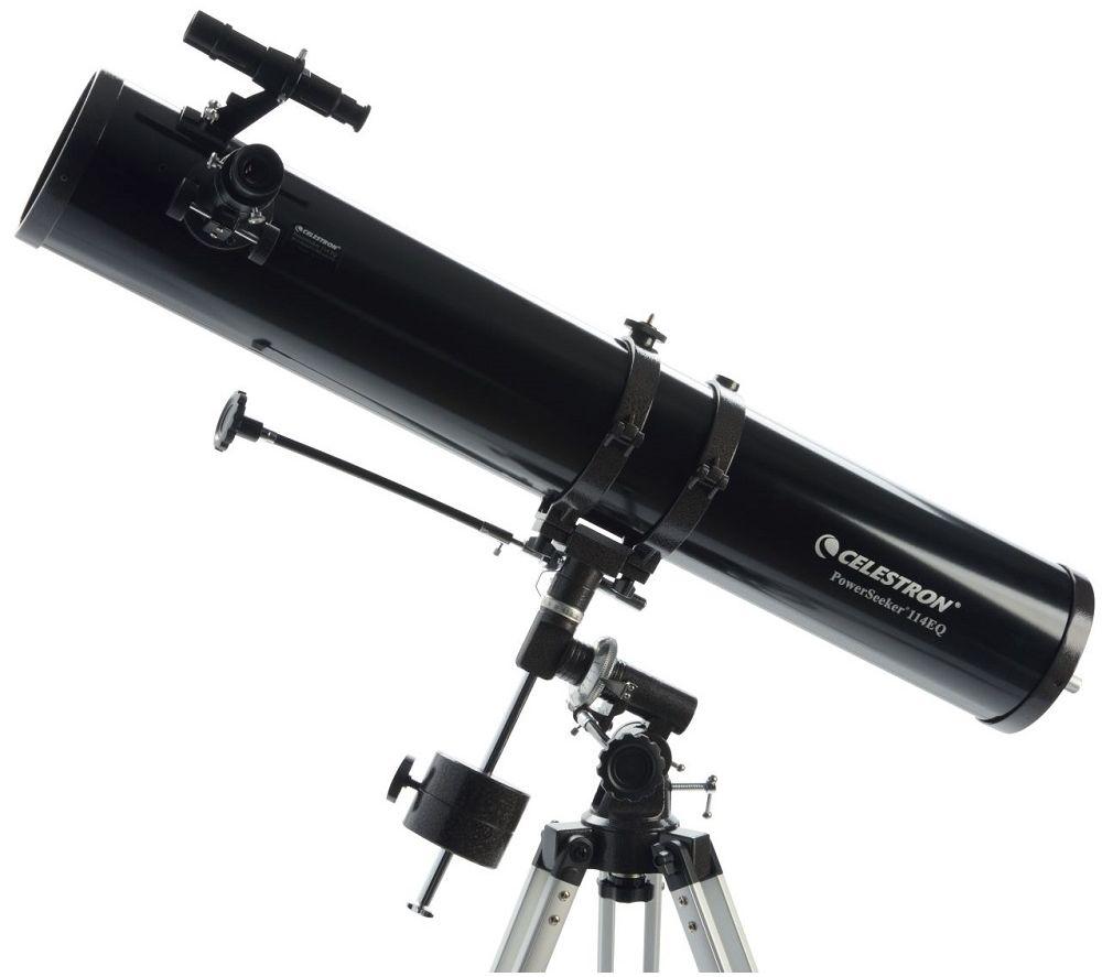 CELESTRON Powerseeker 114EQ Reflector Telescope - Black