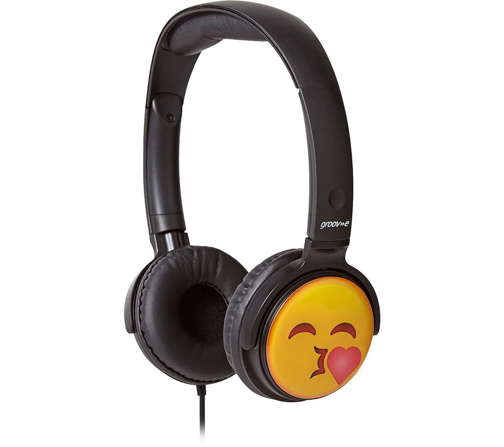 GROOV-E GV-EMJ14 EarMOJI's Kissing Face Kids Headphones - Black
