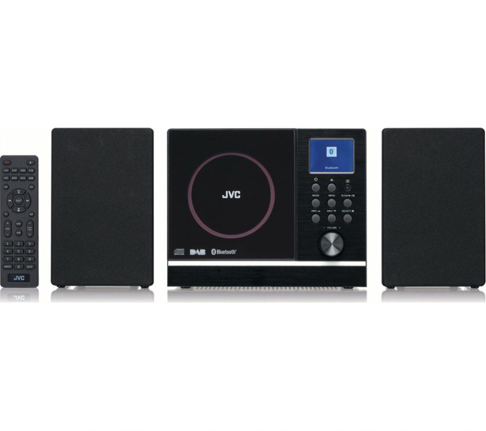 JVC UX-D529B Bluetooth Flat Panel Hi-Fi System - Black