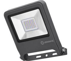Endura Flood Sensor LED Security Light - Dark Grey, Warm White Light, 7 cm