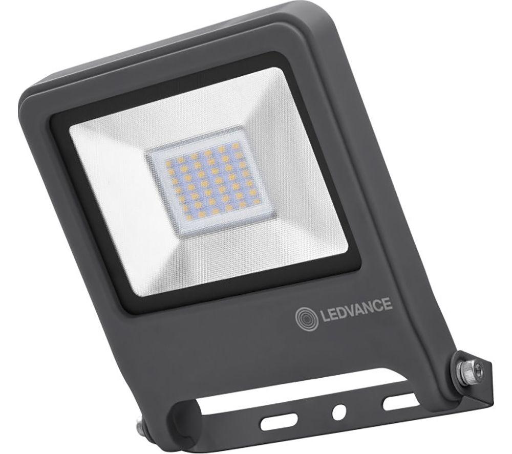 LEDVANCE Endura Flood Sensor LED Security Light - Dark Grey, Warm White Light, 7 cm