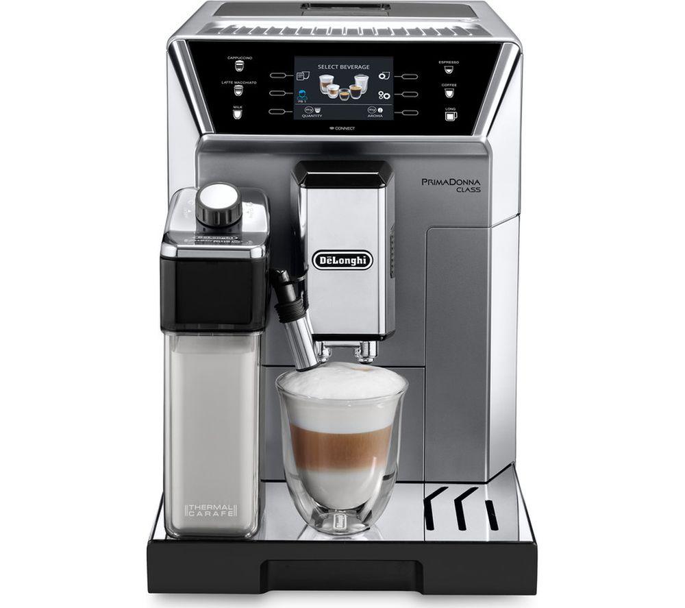 DELONGHI Prima Donna Class ECAM550.75.MS Smart Bean to Cup Coffee Machine - Silver