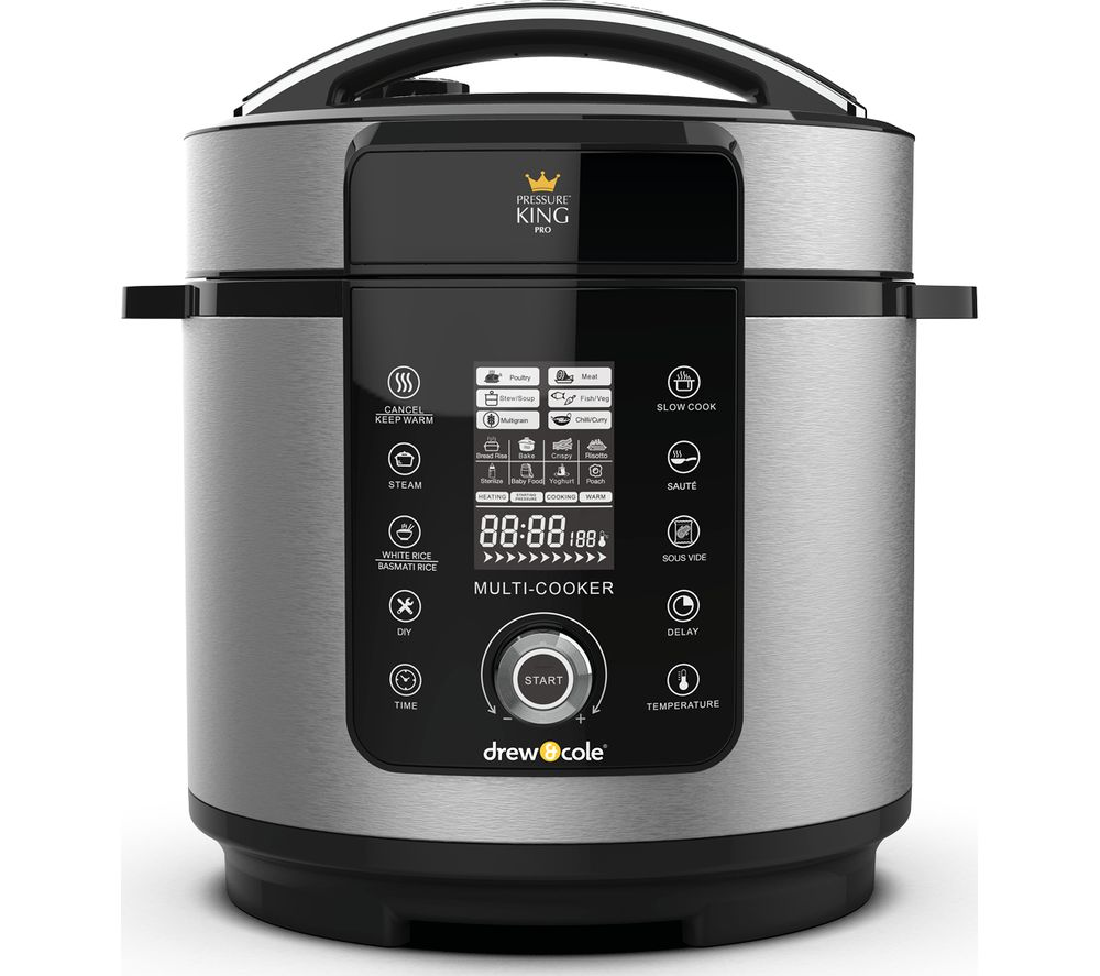DREW & COLE DREW & COLE Pressure King Pro Digital Multi Cooker - Chrome