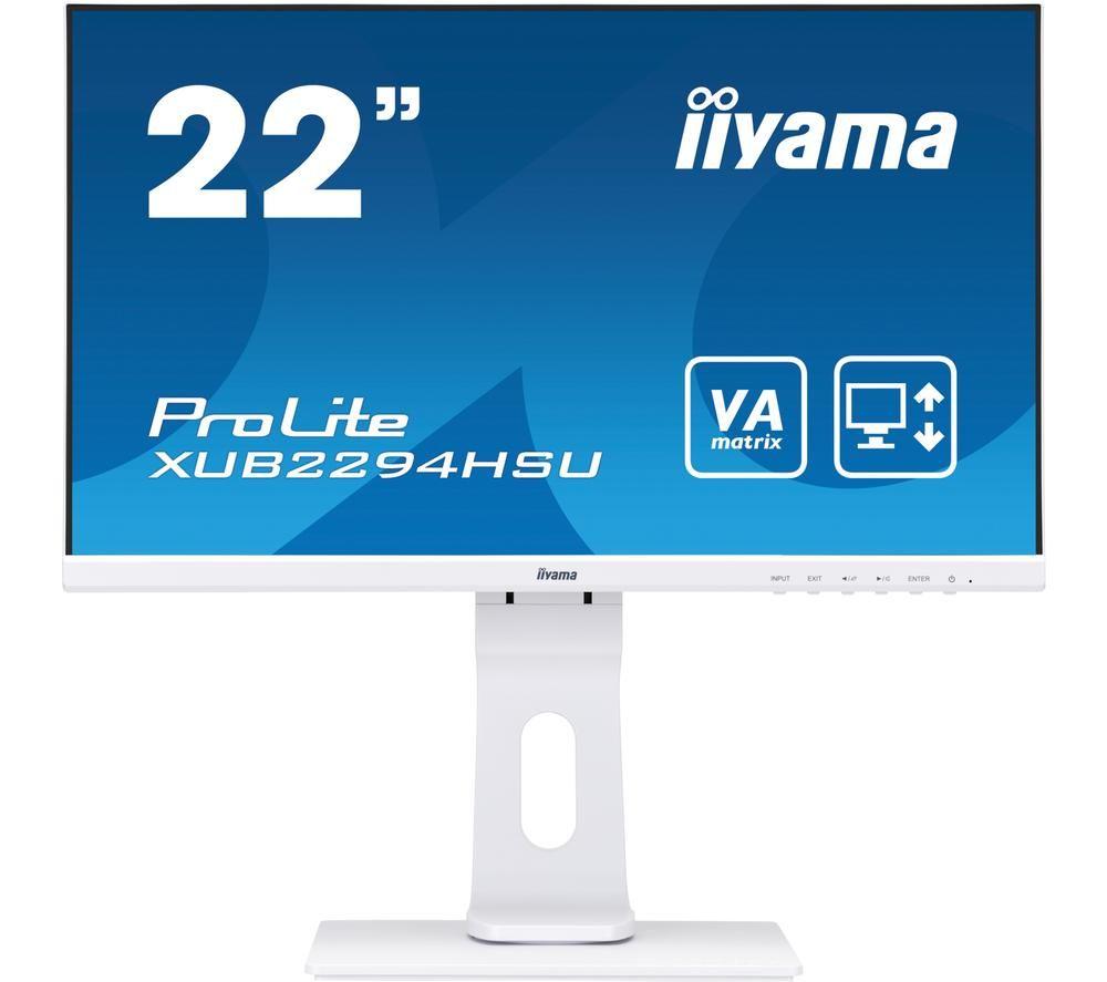 "Image of IIYAMA ProLite XUB2294HSU-W1 22"" Full HD LCD Monitor - White, White"