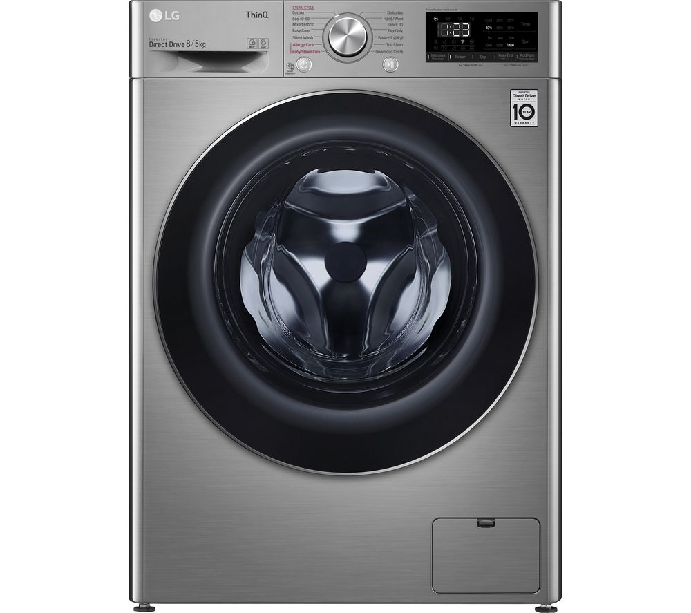LG AI DD V6 FWV685SSE WiFi-enabled 8 kg Washer Dryer - Graphite