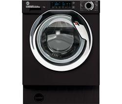 H-WASH 300 Pro HBWOS 69TAMCBET Integrated WiFi-enabled 9 kg 1600 Spin Washing Machine - Black