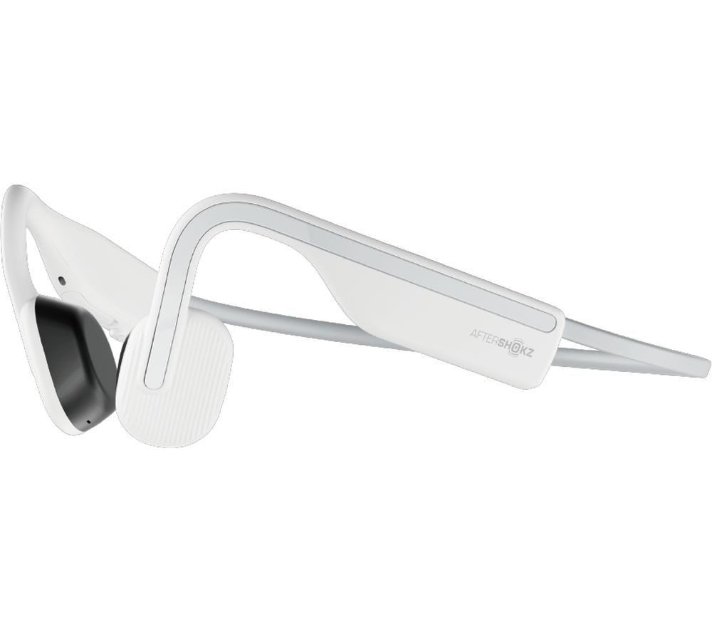 AFTERSHOKZ OpenMove Wireless Bluetooth Headphones - Alpine White, White