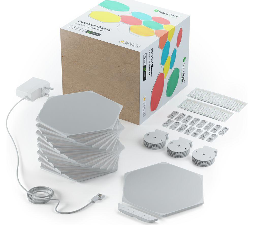 NANOLEAF Shapes Hexagon Smart Lights Starter Kit - Pack of 15