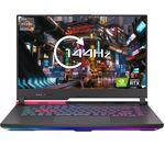 £999, ASUS ROG STRIX G15 15.6inch Gaming Laptop - AMD Ryzen 5, RTX 3050 Ti, 512 GB SSD, AMD Ryzen 5 5600H Processor, RAM: 8GB / Storage: 512GB SSD, Graphics: NVIDIA GeForce RTX 3050 Ti 4GB, 184 FPS when playing Fortnite at 1080p, Quad HD screen / 144 Hz,