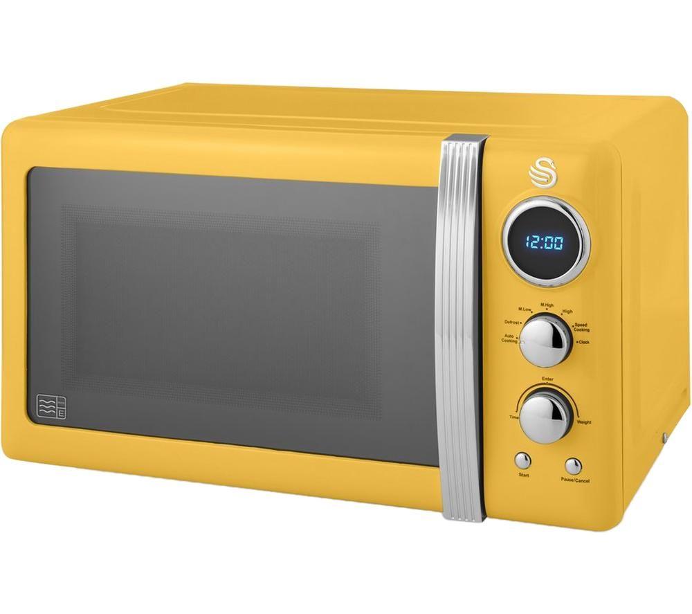 SWAN Retro SM22030YELN Solo Microwave - Yellow, Yellow