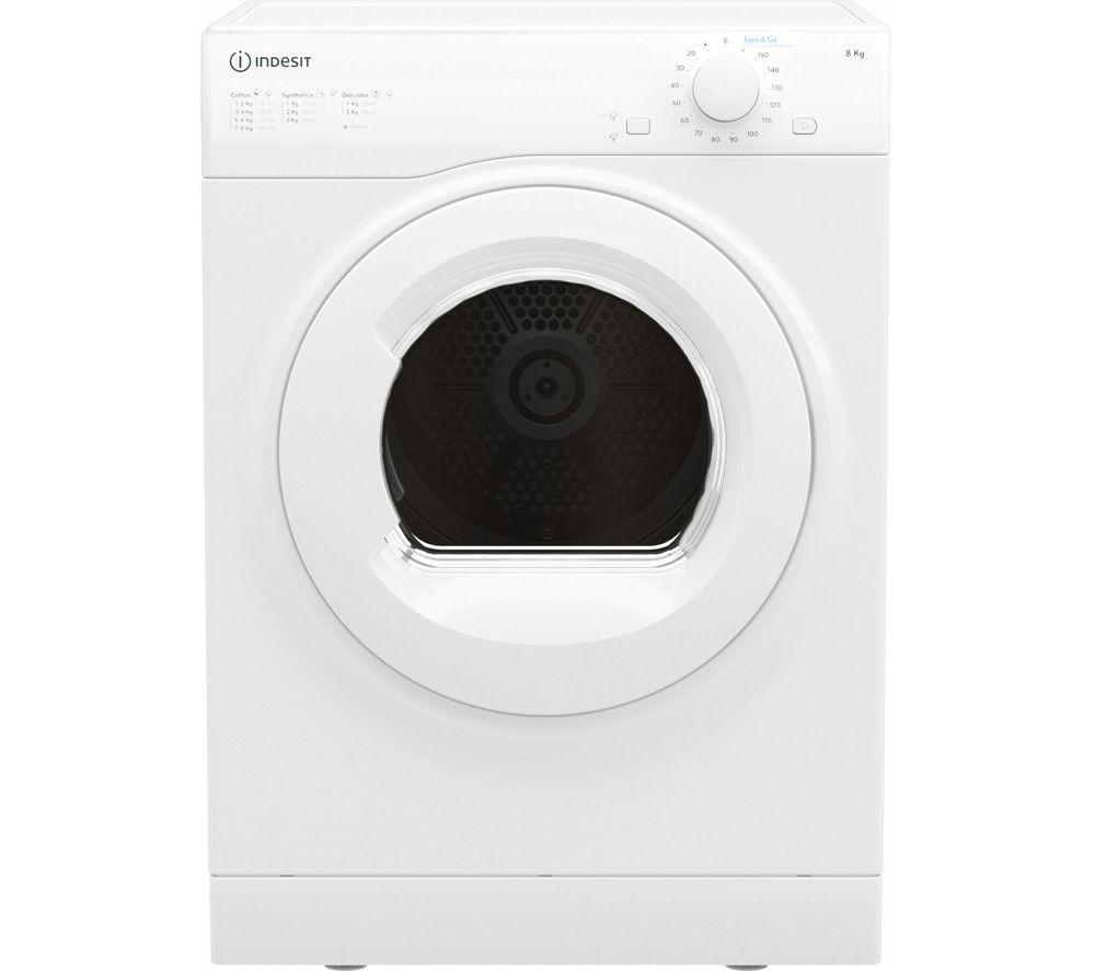 INDESIT I1 D71W UK 7 kg Vented Tumble Dryer - White, White