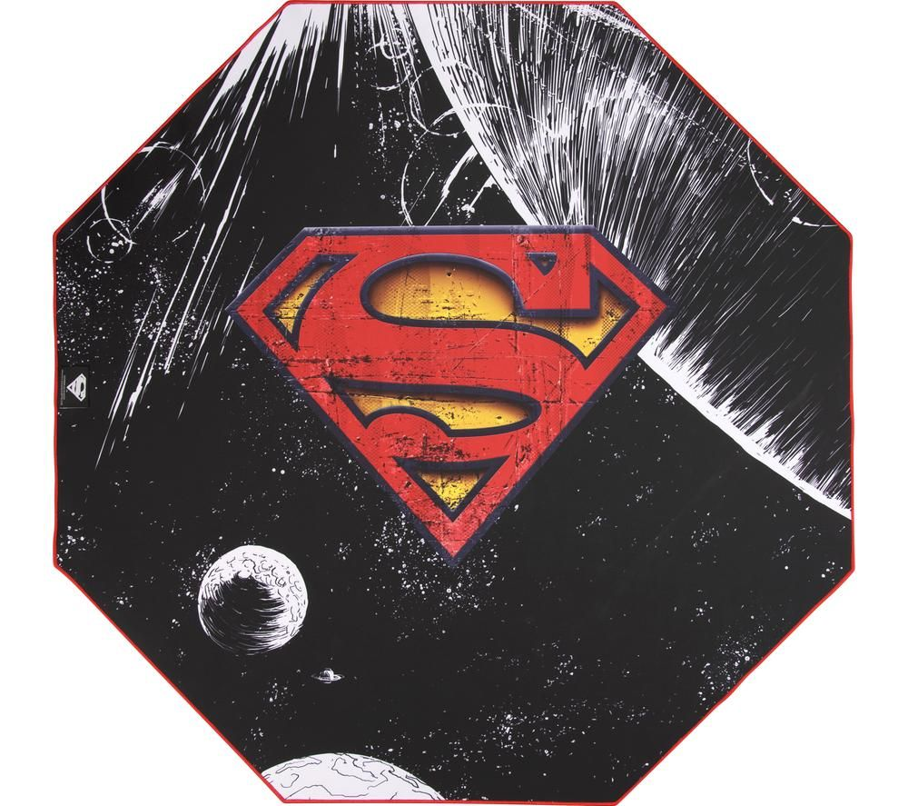 SUBSONIC DC Comics Superman Gaming Chair Mat - Black & Red, Black