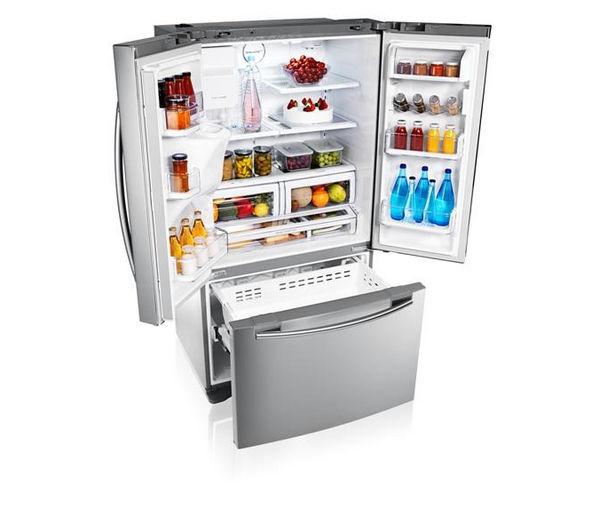 Large Capacity American Fridge Freezer Part - 30: SAMSUNG RFG23UERS American-Style Fridge Freezer - Real Stainless