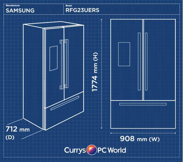 Buy Samsung Rfg23uers American Style Fridge Freezer Real