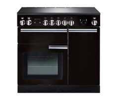 RANGEMASTER Professional+ 90 Electric Induction Range Cooker - Black & Chrome Best Price, Cheapest Prices