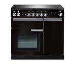 RANGEMASTER Professional+ 90 Electric Induction Range Cooker - Black & Chrome