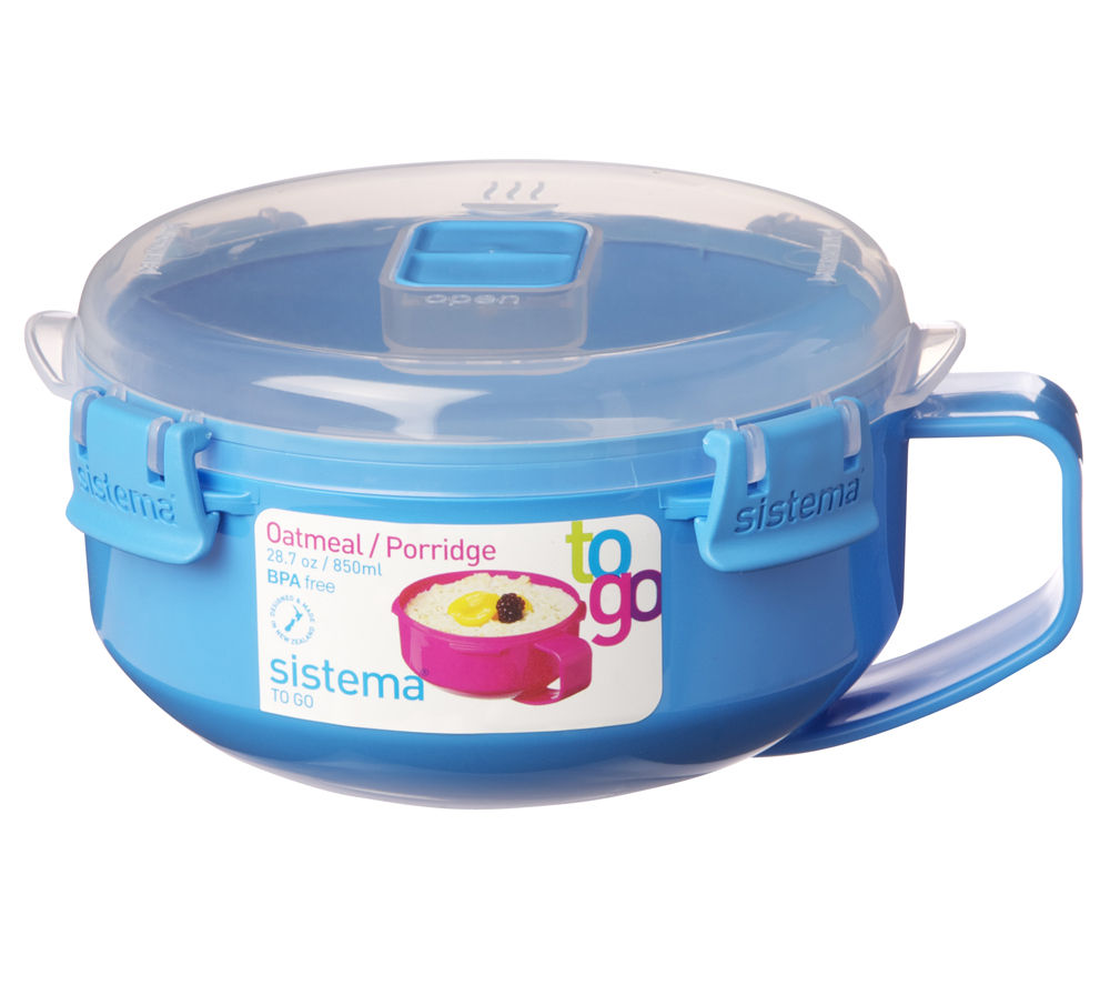 SISTEMA Oatmeal/Porridge To Go Round 0.85-litre Box