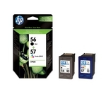 HP 56/57 Tri-colour & Black Ink Cartridges - Twin Pack