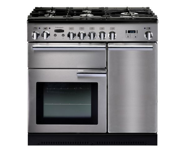 RANGEMASTER Professional+ 90 Dual Fuel Range Cooker - Stainless Steel