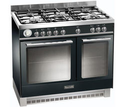 BAUMATIC BCD925BL Dual Fuel Range Cooker - Black