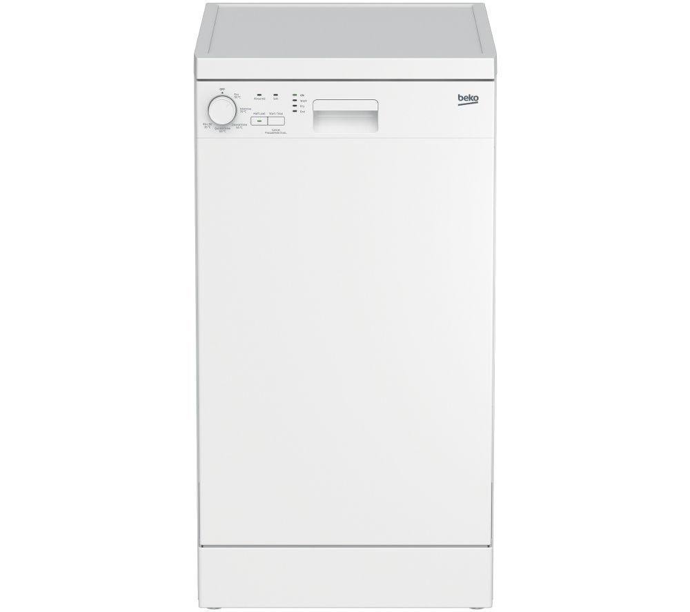BEKO DFS05X10W Slimline Dishwasher - White