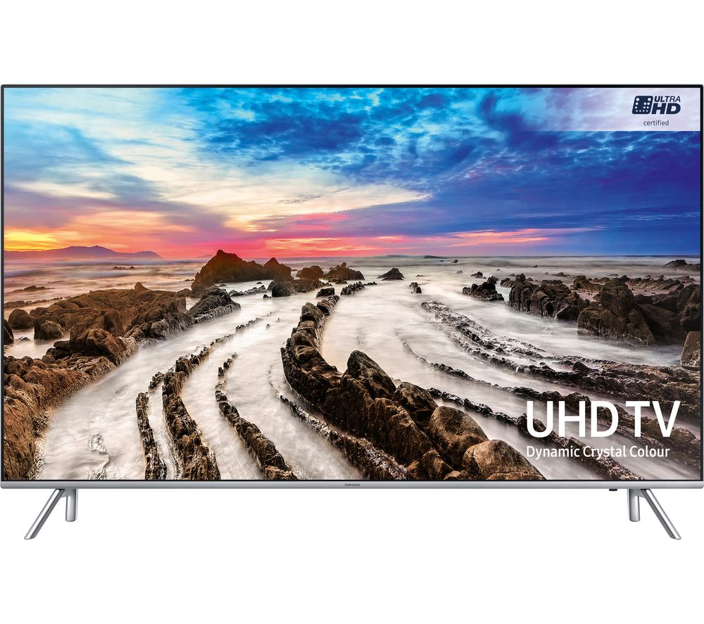 "SAMSUNG UE49MU7000 49"" Smart 4K Ultra HD HDR LED TV + S1HDM315 HDMI Cable with Ethernet - 1 m"