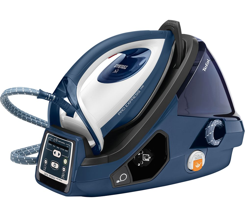 buy tefal pro express care high pressure gv9071g0 steam generator iron blue white free. Black Bedroom Furniture Sets. Home Design Ideas