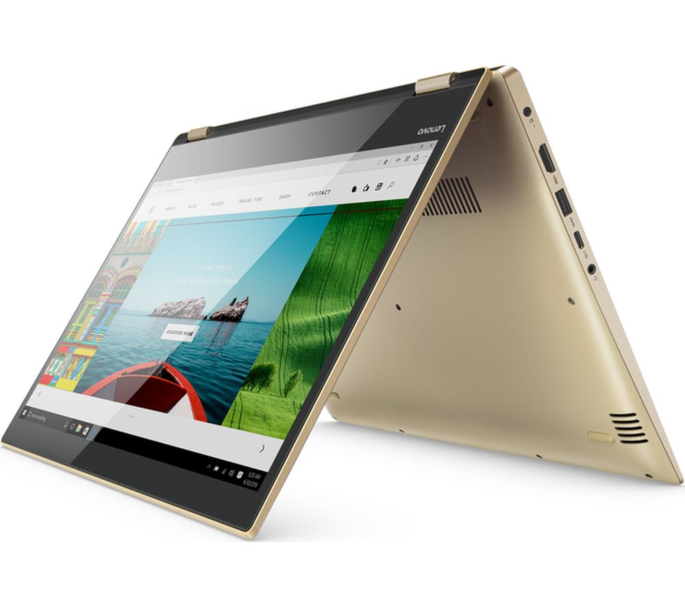 "LENOVO Yoga 520-14IKB 14"" Touchscreen 2 in 1 - Gold Metallic + Office 365 Personal + LiveSafe Premium - 1 user / unlimited devices for 1 year"