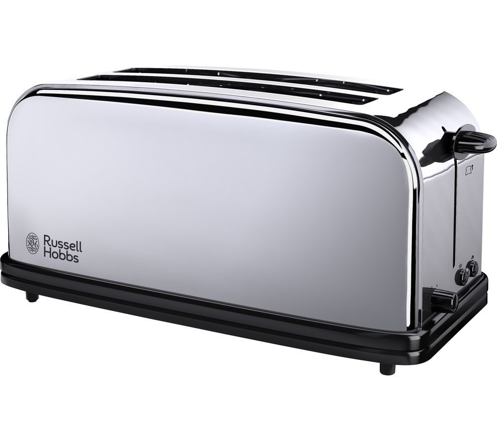 buy russell hobbs classic 23520 4 slice toaster stainless steel free delivery currys. Black Bedroom Furniture Sets. Home Design Ideas