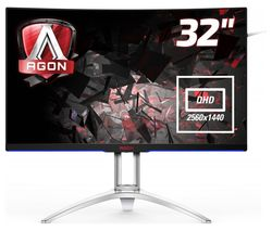 """Image of AOC AG322QCX Quad HD 31.5"""" Curved LED Monitor - Black"""