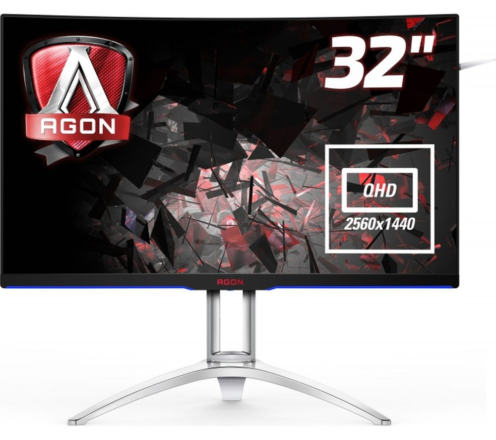 "AOC AG322QCX Quad HD 31.5"" Curved LED Monitor - Black"